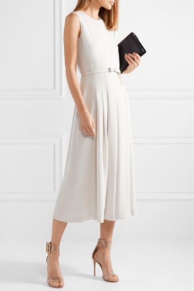 Max Mara | Belted stretch-cady midi dress | NET-A-PORTER.COM