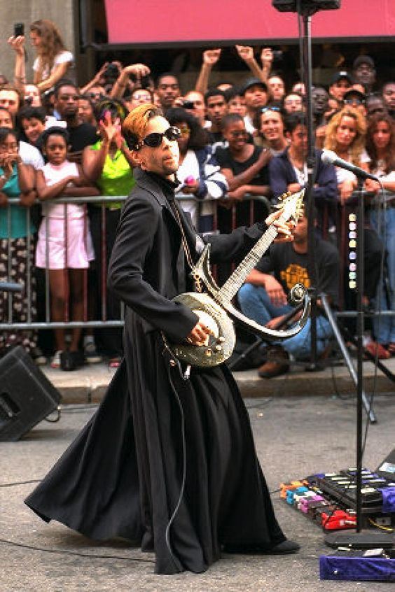 The Artist formerly known  as Prince on the Today Show at Rockefeller Center in 1996.