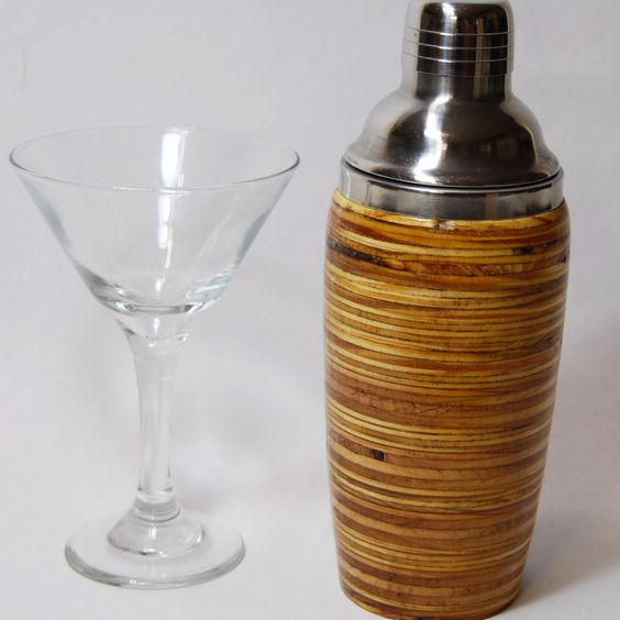 Plywood Cocktail Shaker