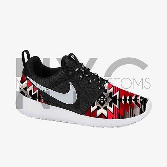 nike mens shoes black native print