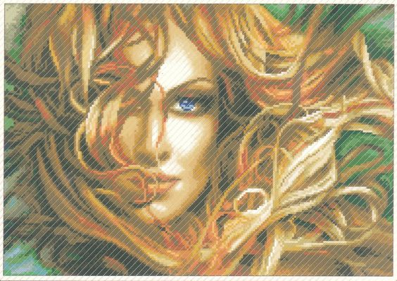 Diamond Painting-Diamant Stickerei/Malerei Diamant Bild Aphrodite 50x35cm