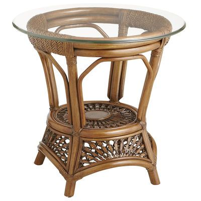 Perfect Azteca End Table   Pecan Brown