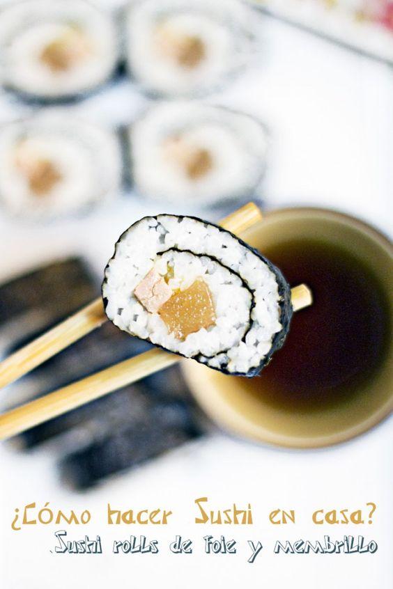 sushi rolls de foie y membrillo #MomentoSundãriSushi