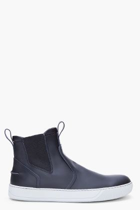 Lanvin Chelsea Boots, black leather, pull-on