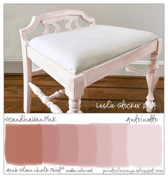 colorways small bench painted with annie sloan chalk paint custom mixed color pink scandinavian bench painted chalk paint