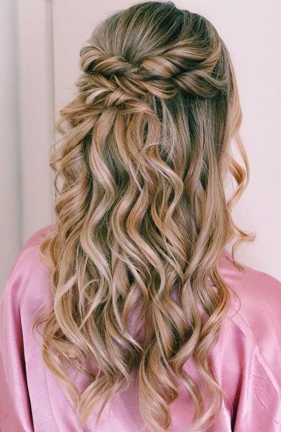 Braided Half Up Half Down Hairstyles For Women Page 7 Of 20 Half Up Braided Hairstyles Are All About Text Wedding Hair Half Half Up Hair Braids For Long Hair