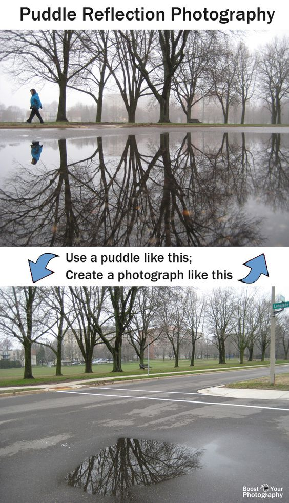 Puddle Reflection Photography: how to | Boost Your Photography: