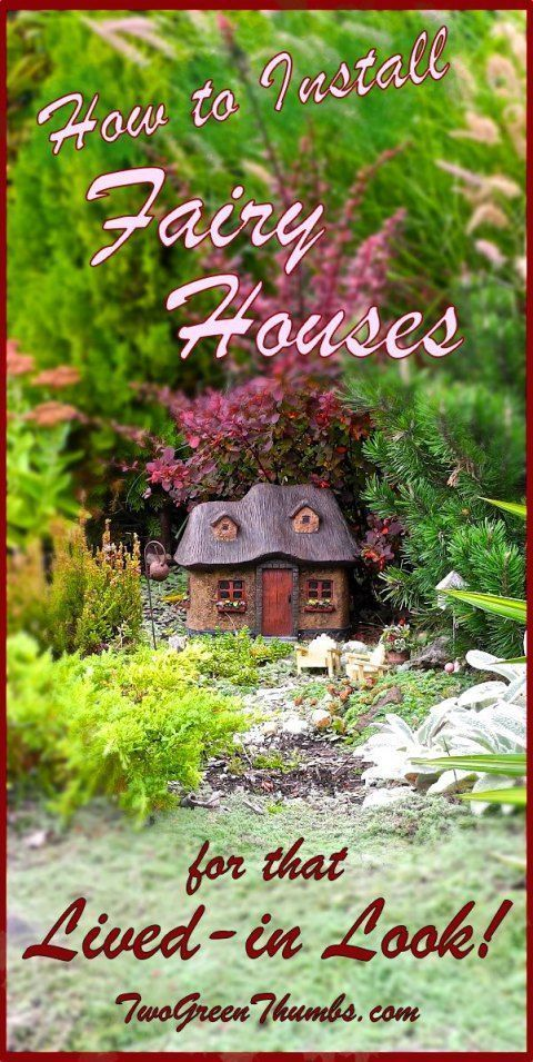 How to Install Miniature and Fairy Garden Houses in Your Garden! How do you make it look real? Here are a few easy and fast ideas to get more realism into your fairy garden. The houses and furniture are from Plow and Hearth.