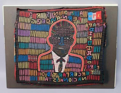 Estate-Found-Panama-Kuna-Mola-Embroidered-Political-3PN-Candidate-Fabric-Panel