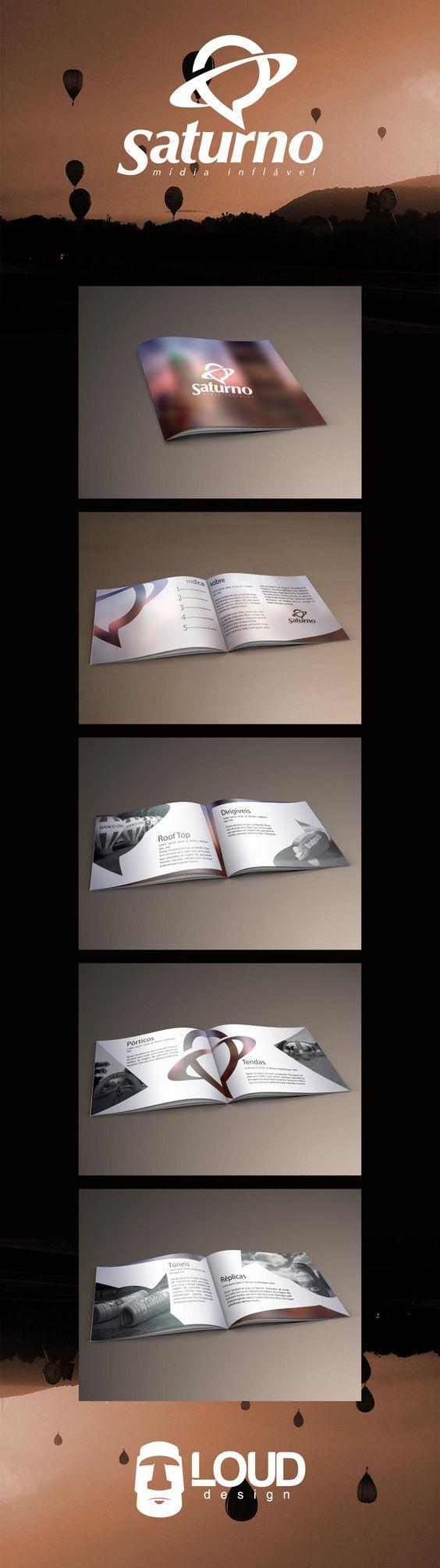 Desenvolvimento de catalogo para Saturno Mídias Infláveis.