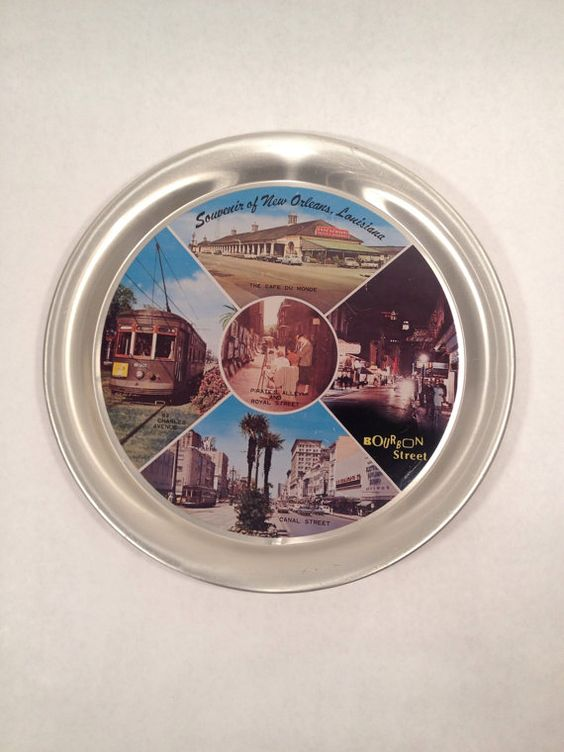 New Orleans Souvenir Tray Vintage on Etsy, $18.00