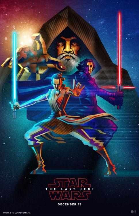 Custom Star Wars The Last Jedi Silk Poster Wall Decor