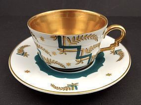 Stylish Art Deco Rosenthal Demitasse Cup & Saucer