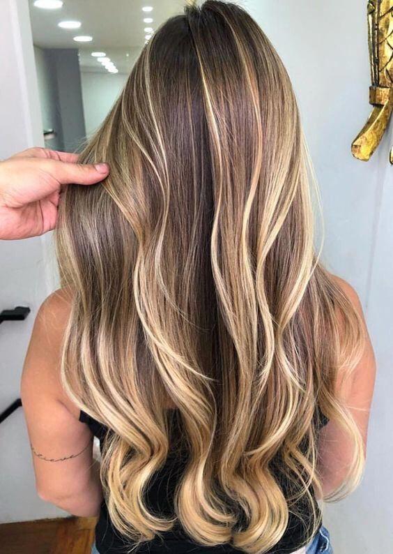 33 Balayage Haare Blond Dunkelbraun Und Hellbraun Haare Balayage Balayage Haare Blond Haare Blond Farben