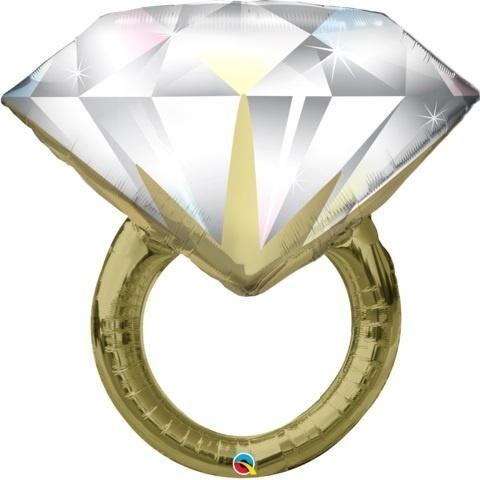 Diamond Ring Engagement Wedding Celebration Propose Party Foil Helium Balloons