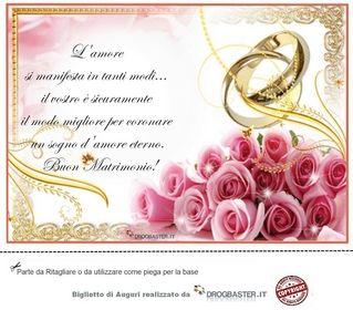 ▷ Biglietto con frase auguri Matrimonio  Biglietto di matrimonio