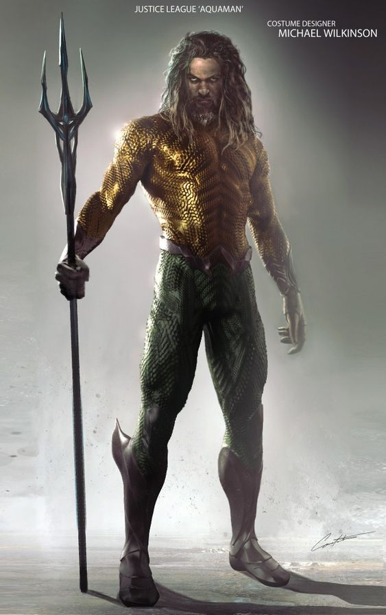 JUSTICE LEAGUE Concept Art Reveals Zack Snyder's Take On Aquaman's Classic Costume