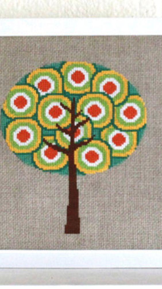 Cross stitch tree