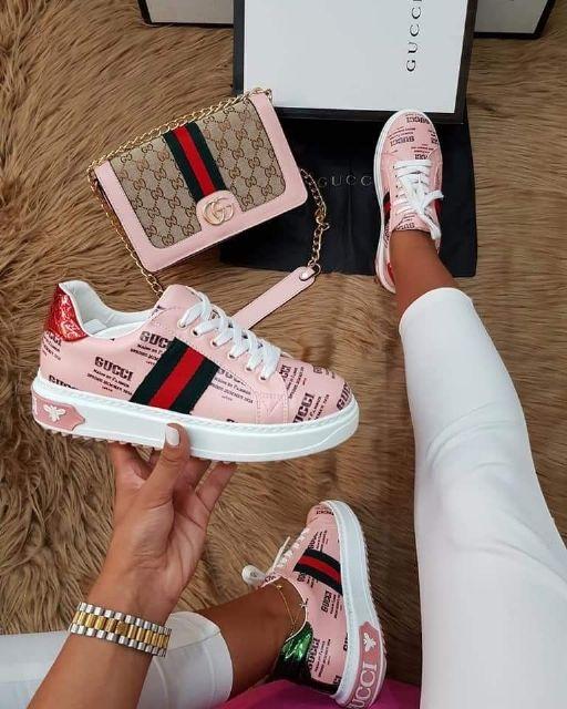 Pink Whole set/Shoe/Bag | Sneakers