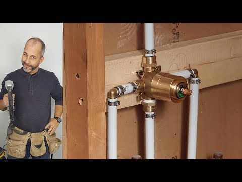 Diy How To Install Copper To Pex Shower And Bath Plumbing Youtube Diy Plumbing Faucets Diy Shower Plumbing