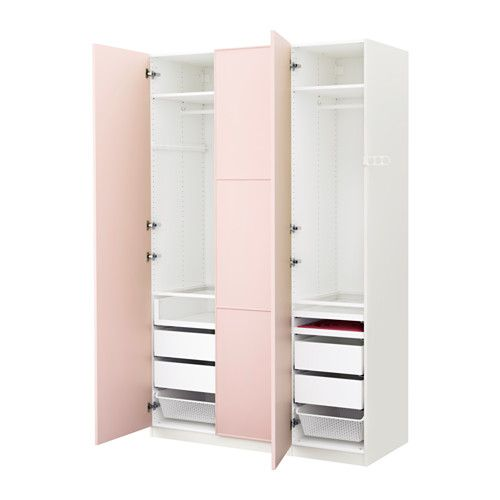 PAX Wardrobe, white, Meråker light pink | Wardrobes, The o'jays ...