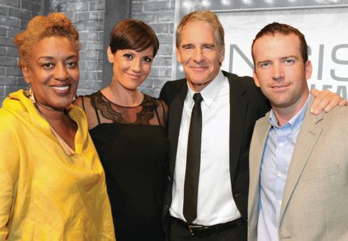 NCIS: New Orleans stars C.C.H. Pounder, left, Zoe McLellan, Scott Bakula and Lucas Black.