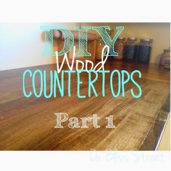 Diy Wood Kitchen Countertops: On Bliss Street: DIY Wood Countertop For $120. Eat That