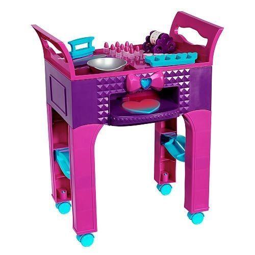 Fun Virtual Nail Salon Spa Kids: Girls Pink Nail Salon Set Kids Pretend Play Manicure