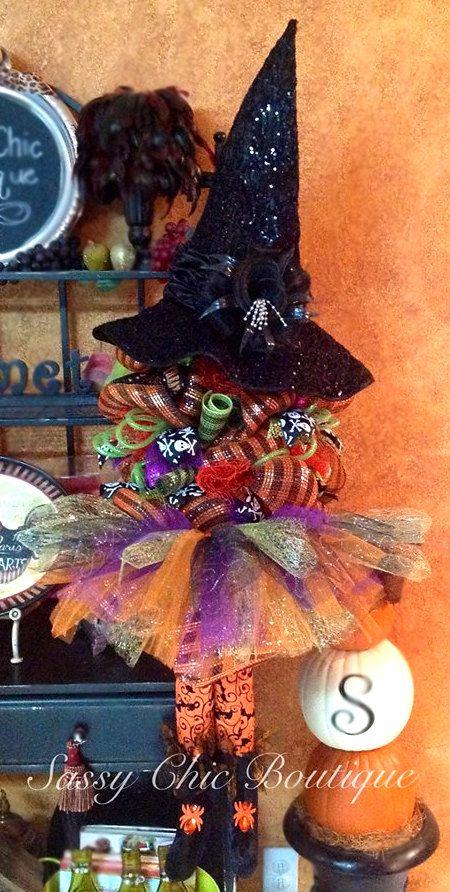 "48"" Halloween Witch Deco Mesh"