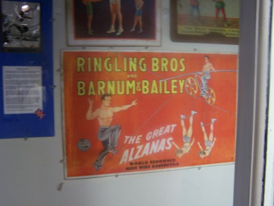 There is a wide variety of Circus posters on display through out the International Circus Hall of Fame.