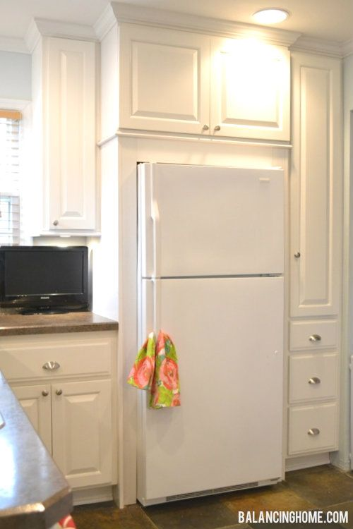 Thinking of adding more cabinets around the refrigerator for Adding drawers to existing kitchen cabinets