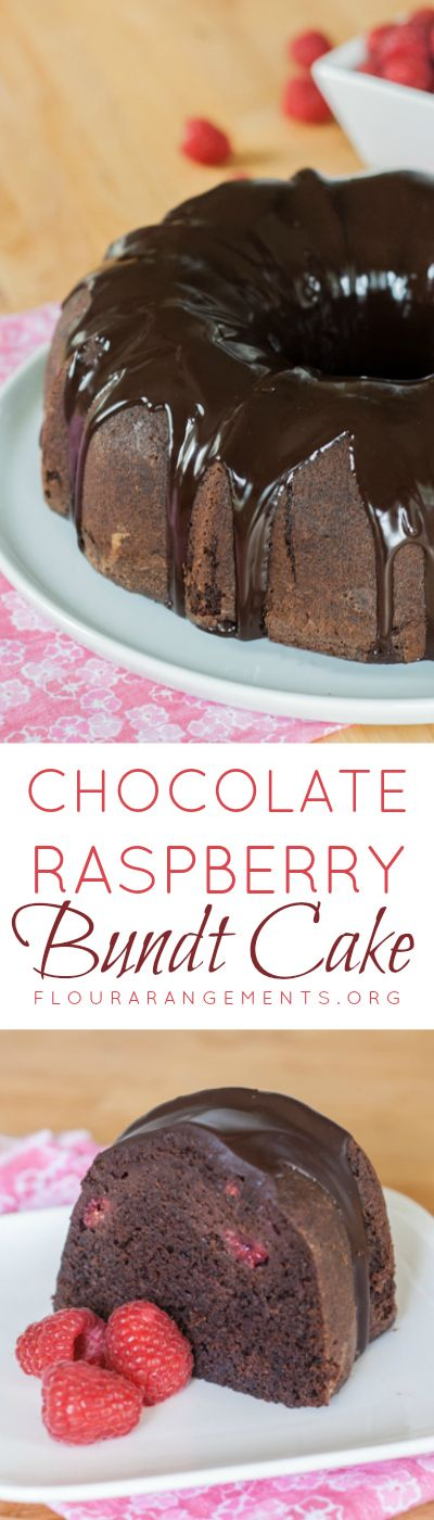 ... with the deep chocolate flavor in this Chocolate Raspberry Cake