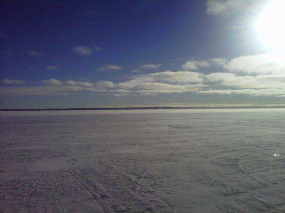 Lake Simcoe, ice fishing