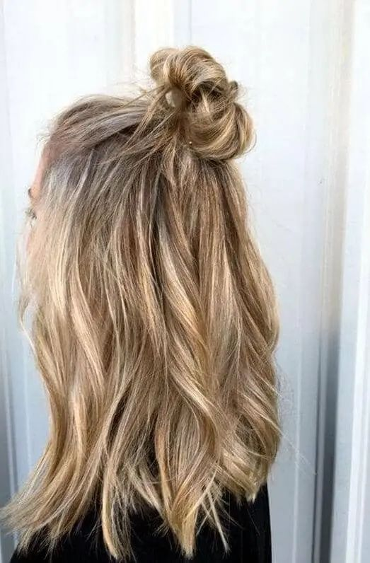 27 Magnificently Gorgeous Half Up Half Down Hairstyles Hair Styles Casual Updos For Long Hair Easy Hairstyles