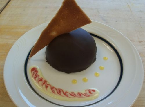 Chocolate Mousse Bombe with Chocolate Ganache