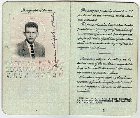 Pasaporte de Norman Mailer