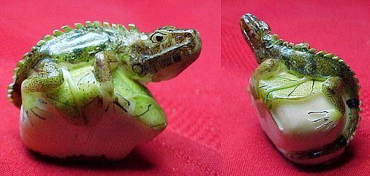 Wounaan SUPER Iguana Tagua Carving-Panama #999