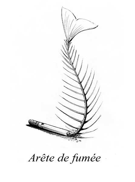 """Et vu comme ça ? Dessin intitulé """"arête de fumée"""" de Vincent Dufour (format A4) http://www.vincentdufour.com/blog/tous-mes-styles/"""