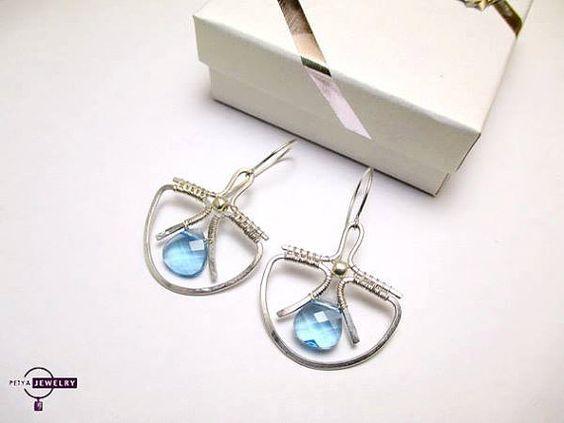 Silver earrings swarovski earrings silver earrings by PetyaJewelry