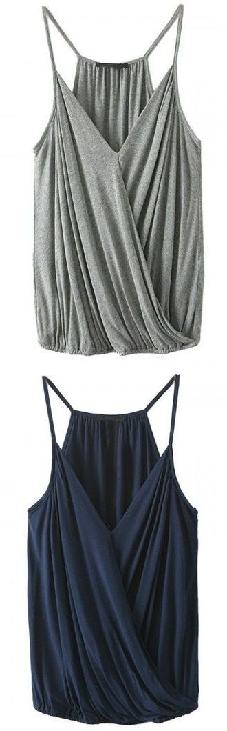 Draped Tank ❤︎ This would make an awesome breast feeding tank top!