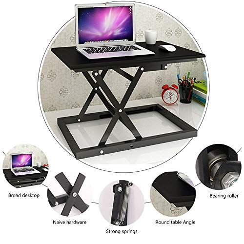 Height Adjtable Stand Up Desk Home Office Study Work Desk Laptop