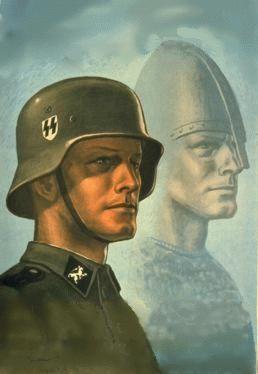 Nazi Propaganda Poster -   Mythology, Folktales, Religion and National Myth were extremely important to Nazi's idea of people & Nazi tradition.