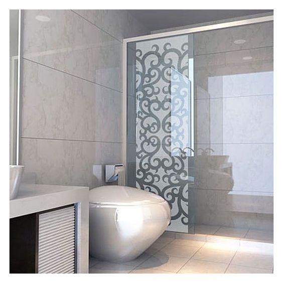 donnez une touche baroque la d coration de votre salle de bain avec ce sticker pour paroi de. Black Bedroom Furniture Sets. Home Design Ideas