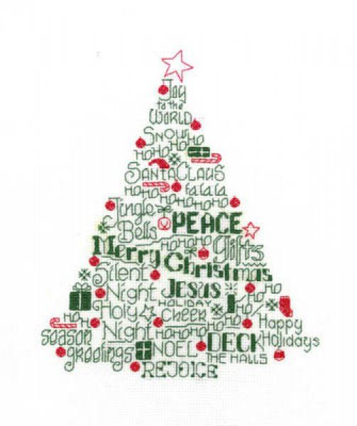 Let's Deck The Halls is the title of this cross stitch pattern from Imaginating.