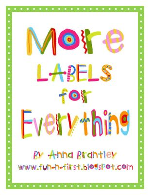 Colorful labels for everything in your classroom!