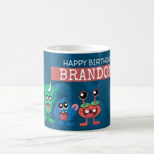 Cute Little Monster Birthday Donut Party Coffee Mug Zazzle Com Birthday Donuts Little Monster Birthday Donut Birthday Parties
