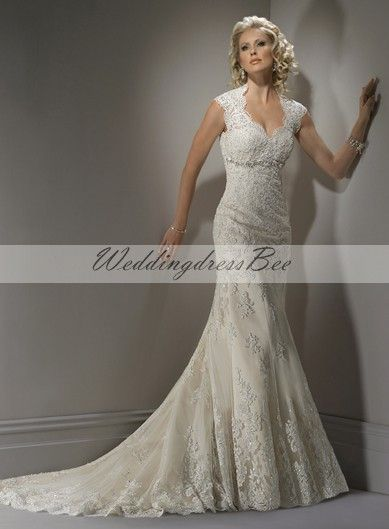 Attractive Straps Sleeveless Tulle wedding dress
