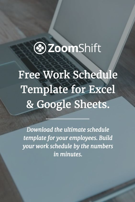 free work schedule template for excel and google sheets perfect for scheduling employees at. Black Bedroom Furniture Sets. Home Design Ideas