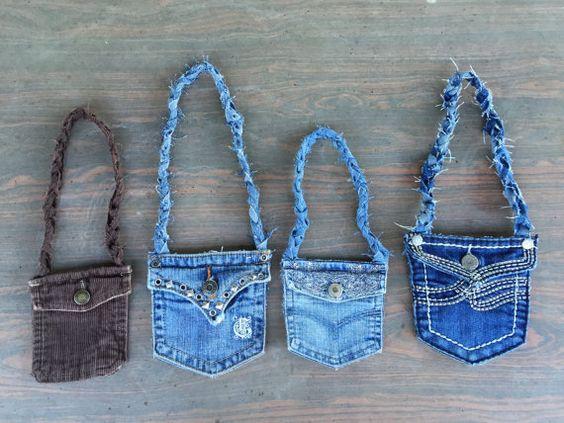 Little Jean Pocket Purses by KellisCleverCrafts on Etsy