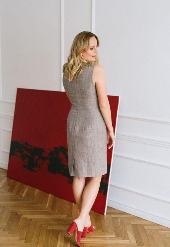Eleganckie Klapki Idealne Do Sukienki Fashion Business Fashion Dresses